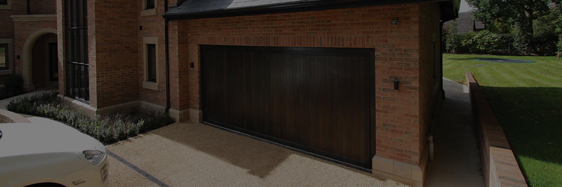 Wood, timber garage doors, London