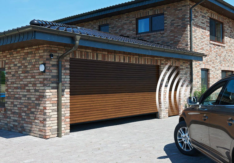 Automated, electric roller garage doors, London
