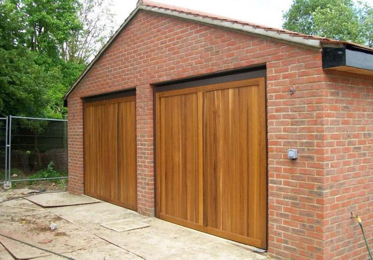 Double Timber Garage Doors- London