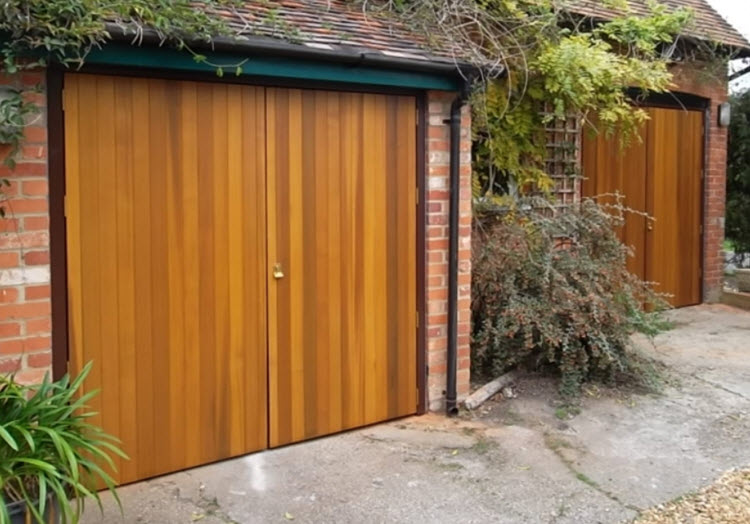 Side Hinged Double Garage Doors Timber Wood Garage Doors