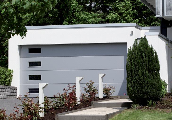 Soft Grey Colour Sectional Garage Door