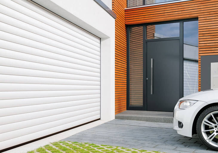 White Colour Roller Garage Door