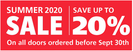 2020 Summer Sale for garage doors in London